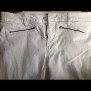 NYDJ White Leggings size 14